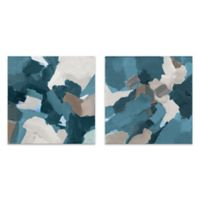 2-Piece Let's Mingle II 14-Inch Square Canvas Wall Art