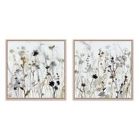 2-Piece Wildflower 14.8-Inch Square Framed Canvas Wall Art