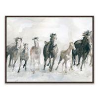 Running Wild 18.8-Inch x 24.8-Inch Framed Canvas Wall Art