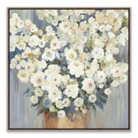 Cream Buds 20.8-Inch Square Framed Canvas Wall Art