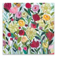 Floral Botanical 27-Inch Square Wrapped Canvas