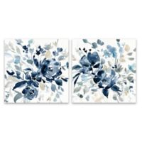 Floral Botanical 27-Inch Square Wrapped Canvas (Set of 2)