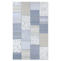 Couristan® Marina Garden Patchwork 7'10 x 10'9 Woven Area Rug in Oyster/Pearl