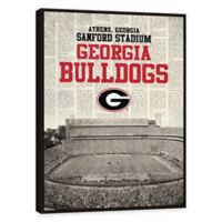 University of Georgia News Stadium Framed Printed Canvas Wall Art