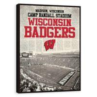 University of Wisconsin News Stadium Framed Printed Canvas Wall Art