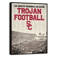 University of Southern California News Stadium Framed Printed Canvas Wall Art
