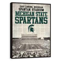 Michigan State University News Stadium Framed Printed Canvas Wall Art