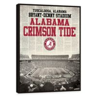 University of Alabama News Stadium Framed Printed Canvas Wall Art
