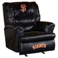 MLB San Francisco Giants Upholstered Medium Firm Recliner in Black/orange