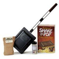 4-Piece Shake and Pop Outdoor Popcorn Popper Set