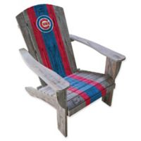 MLB Chicago Cubs Distressed Wood Adirondack Chair