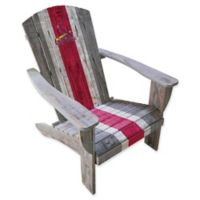 MLB St. Louis Cardinals Distressed Wood Adirondack Chair