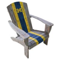 University of Michigan Distressed Wood Adirondack Chair