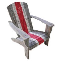 University of Nebraska Distressed Wood Adirondack Chair