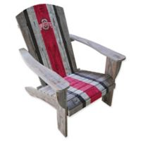 Ohio State University Distressed Wood Adirondack Chair