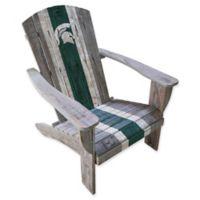 Michigan State University Distressed Wood Adirondack Chair