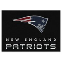 """NFL New England Patriots Chrome-Effect 5'4"""" x 7'8"""" Area Rug in Black"""