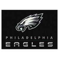 "NFL Philadelphia Eagles Chrome-Effect 3'10"" x 5'4"" Area Rug in Black"