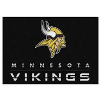 "NFL Minnesota Vikings Chrome-Effect 5'4"" x 7'8"" Area Rug in Black"