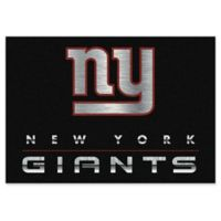 "NFL New York Giants Chrome-Effect 3'10"" x 5'4"" Area Rug in Black"