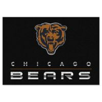 """NFL Chicago Bears Chrome-Effect 3'10"""" x 5'4"""" Area Rug in Black"""