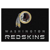 "NFL Washington Redskins Chrome-Effect 5'4"" x 7'8"" Area Rug in Black"