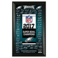 NFL Philadelphia Eagles Super Bowl 52 Champions Banner with Signatures Wall Art