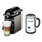 Nespresso® Pixie Espresso Maker Bundle with Aeroccino Frother in Titanium