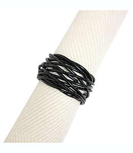 Anillo de alambre enredado para servilletas en negro