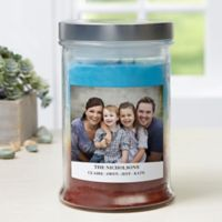 Picture Perfect Personalized Triple Pour Candle Jar