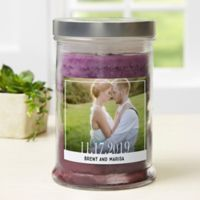 Our Wedding Photo Personalized Triple Pour Candle Jar