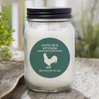 Farmhouse Kitchen Personalized Candle Jar