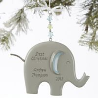 Eddie the Elephant® Personalized Baby Boy Christmas Ornament