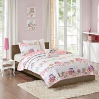 Mi Zone Kids Wise Wendy 3-Piece Twin Coverlet Set in Pink