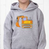 Construction Trucks Hanes® Youth Hooded Sweatshirt