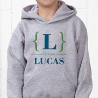 Name Bracket Hanes® Youth Hooded Sweatshirt