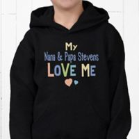 Somebody Loves Me Hanes® Youth Hooded Sweatshirt