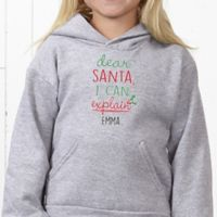 Dear Santa Youth Hooded Sweatshirt