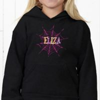 Hanes Spider Webs for Her Youth Hooded Sweatshirt
