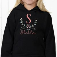 Girly Chic Personalized Hanes® Youth Hooded Sweatshirt