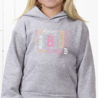 Repeating Name Personalized Hanes® Youth Hooded Sweatshirt