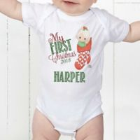 Precious Moments® Personalized Stocking Baby Bodysuit