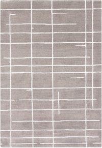 Surya Perla Geometric 5' x 8' Area Rug in Grey