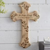 Family Vine Personalized Wood Cross