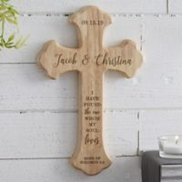 Wedding Day Personalized Wood Cross