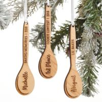 Best Chef Personalized Wooden Spoon Christmas Ornament