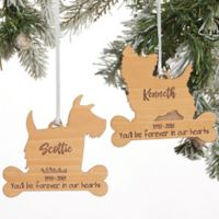 Dog Breed Memorial Personalized Wood Christmas Ornament
