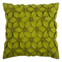 Rizzy Home Petals Solid Square Throw Pillow in Lime/Green