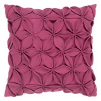 Rizzy Home Petals Solid Square Throw Pillow in PInk