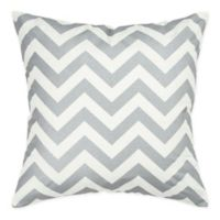 Rizzy Home Chevron Square Throw Pillow in Silver